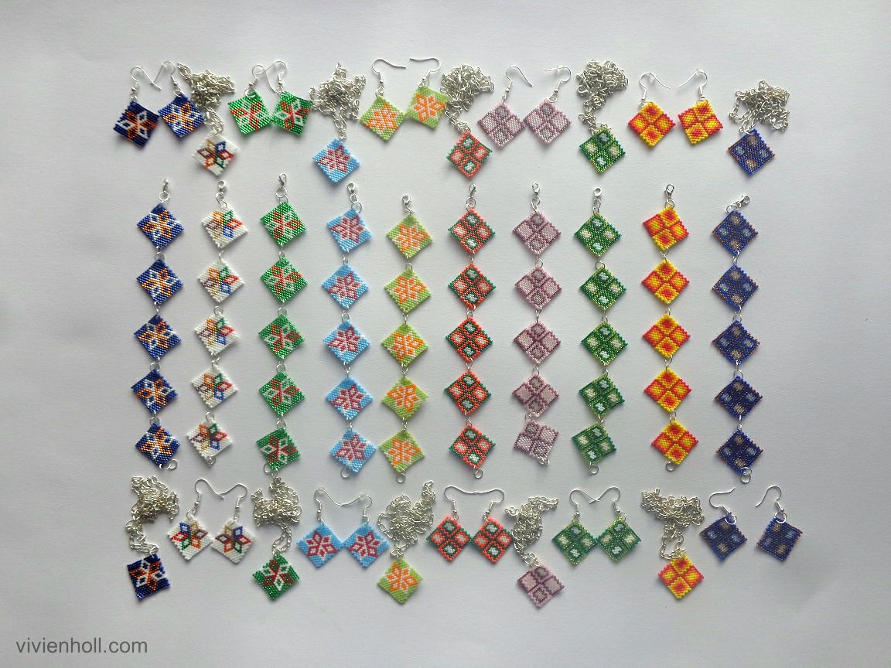 Peyote ékszerszett/Peyote jewellery sets