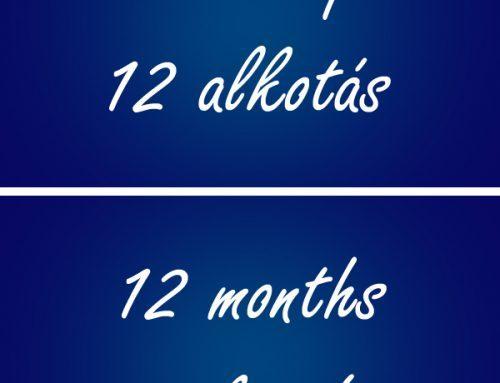 A kihívás folytatódik: 12 hónap – 12 alkotás