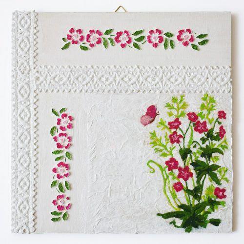 Szalagos sorozat – Rózsaszín virágok/Lace ribbon series – Pink flowers