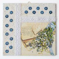 Szalagos sorozat – Kék virágok/Lace ribbon series – Blue flowers