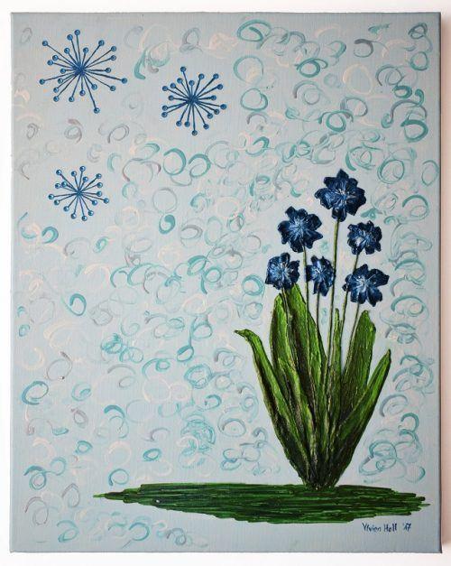Kék virágok - világoskék/Blue flowers - light blue